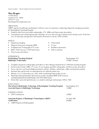 medical technologist resume examples cipanewsletter cover letter radiology technician resume radiology tech resume