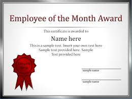 impressive employee of the month award and certificate template thogati