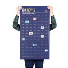 Купить <b>Постер</b> «<b>100</b> фильмов, которые нужно посмотреть ...
