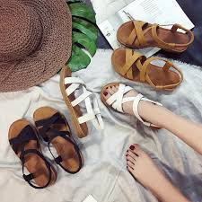 Sandals female 2018 <b>new summer wild</b> Korean women's shoes Mori ...