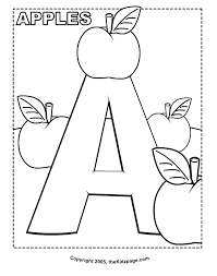 Small Picture Coloring Pages With Alphabet Letters Coloring Pages