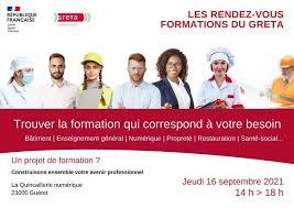 LES RENDEZ-VOUS FORMATIONS DU GRETA La Quincaillerie Numérique La Quincaillerie Numérique  jeudi 16 septembre 2021 - Unidivers