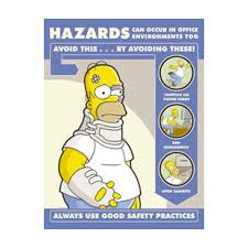simpsons hazards in office environment poster best office posters