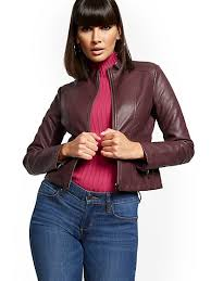 <b>Faux Leather Jackets</b> for Women | NY&C