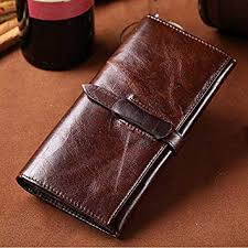 L.Z.HHZL Men Wallets Oil Wax Leather Men's Leather ... - Amazon.com