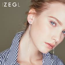 <b>ZEGL</b> ear piercing for <b>round</b> face ear clips for women long ...