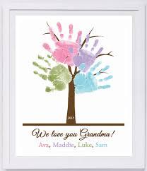 Etsy Art Family Tree Handprint Wall Art 801 Pap Family Trees Walls And Etsy