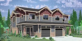 Duplex House Plans  Corner Lot Duplex House Plans  Narrow lotD  Craftsman duplex house plans  luxury duplex house plans  Hillsboro Oregon