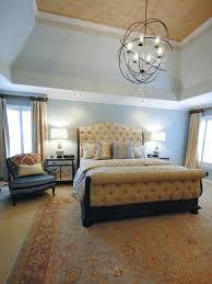 blue transitional master bedroom photos