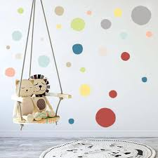 36pcs High Qulaity <b>Colorful Polka Dots Wall</b> Stickers Gray Pink ...