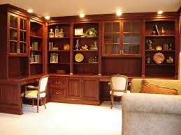 custom made home office cabinetry in cherry build home office furniture
