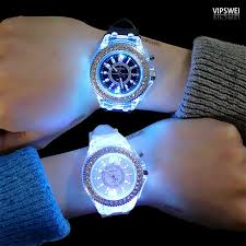 Luminous diamond <b>watch fashion</b> trend <b>Men's Women's watches</b> ...