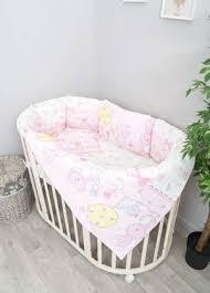 <b>Комплект</b> в <b>круглую кроватку</b> для новорожденных – Сонный Гномик