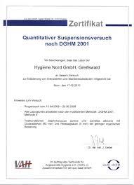 hygiene nord ring trial quantitative suspension test 06 2008