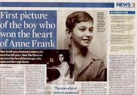Ynetnews Jewish Scene   UK paper  Photo of boy Anne Frank loved is     Ynetnews Her last mention of Schiff was in       the year her family     s safe house was raided by the German security police  She later died in a Nazi prison camp