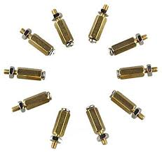 Saver <b>DIY 11MM Hex Brass</b> Cylinder + Screw + Nut Kits: Amazon.co ...