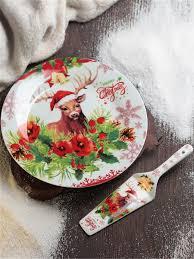 <b>Тортовница</b> с <b>лопаткой</b>, новогодний олень Доляна 10021868 ...