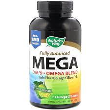 Nature's Way, <b>Fully Balanced Mega 3/6/9</b>, Omega Blend, Lime ...