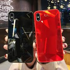glossy dimaond case for iphone 7 plus 8 6 6s glitter shining mirror cases xs max xr x tpu transparent cover
