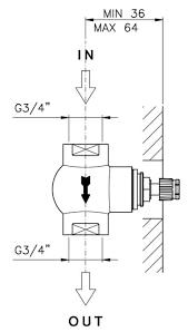 <b>Внутренняя часть запорного вентиля</b> NICOLAZZI Built-in 4911 ...