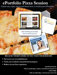 eportfolio     Master of Science in Publishing Program Master of Science in Publishing Program   Pace University Want to learn more  Come to the ePortfolio Session on Wednesday  February    to grab a slice of pizza and begin building your ePortfolio  See you there