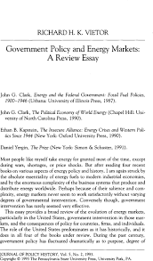 government policy and energy markets a review essay core government policy and energy markets a review essay