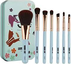 7pcs <b>Portable Soft Bristle</b> Wood Handle Foundation Makeup ...