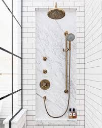 5 <b>Vintage</b>-Style Aged <b>Brass Shower Faucets</b> & Hardware Systems