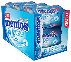 Mentos Pure <b>Fresh</b> Sugar-Free <b>Chewing Gum</b> with <b>Xylitol</b>, <b>Fresh</b> ...