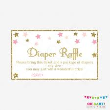 diaper raffle ticket twinkle twinkle little star baby shower diaper raffle ticket diaper raffle sign and raffle cards pink gold baby shower printable stpg