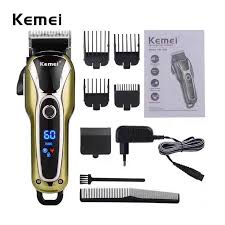 Kemei <b>Rechargeable Hair</b> Clipper Professional Trimmer <b>LCD</b> ...