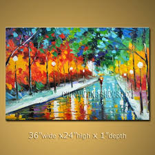 colorful large wall art for office decor impressionist palette knife landscape 36 x 24 art for the office wall