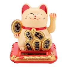 Alinory <b>Lucky Cat</b> Solar Powered Welcoming Cat <b>Adorable</b> Waving ...
