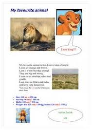 essay on my favourite animal lion  corasegcombr essay on my favourite animal lion
