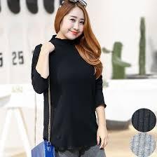 Special <b>Large Size Women's Half</b> Turtleneck Cotton Shirt 100kg Fat ...