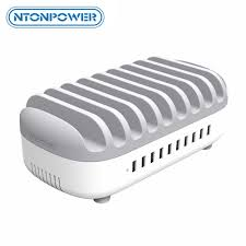 <b>NTONPOWER</b> Desktop Multi USB Charging Station Dock with ...