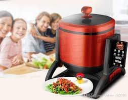 220v 4 5l intelligent electric chinese food stir fry cooking machine multifunction smokeless multi cooker eu au uk us easy work