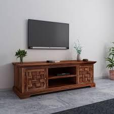 Home Edge <b>Sheesham</b> Wood <b>Solid Wood TV</b> Entertainment Unit ...