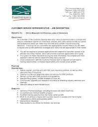 customer service resume duties and responsibilities Archives
