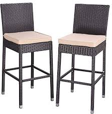 Dining <b>Bar Stools</b> All Weather PE Resin Wicker Patio Time Outdoor ...