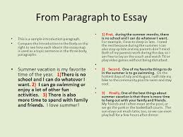 a paragraph into an essay part one restate the question read the  from paragraph to essay this is a sample introduction paragraph compare the introduction to the