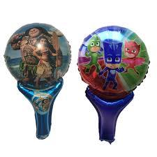 <b>10pcs</b>/<b>lot</b> Cartoon <b>Moana party supplies</b> PJ masks birthday Party foil ...