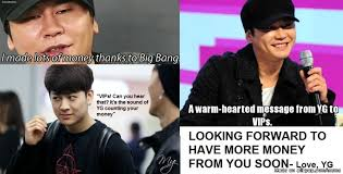 A warm-hearted message from YG to VIPs. | allkpop Meme Center via Relatably.com