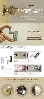 <b>Cabinet Hinge Led</b> Sensor Light For Kitchen Modern Closet