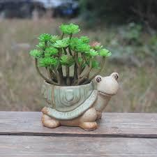 Ceramic <b>Flower Pot</b> Creative 12407 Lucky Turtle Longevity Turtle ...