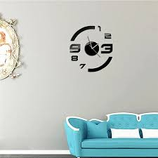 new arrival fashion frameless 3d mirror wall clock home office diy large hour time sticker decor aliexpresscom buy office decoration diy wall
