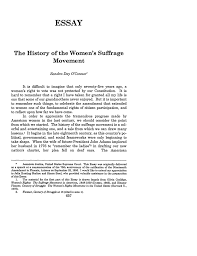 history of the women s suffrage movement the essay 49 vanderbilt what is heinonline