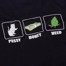 <b>Футболка RIPNDIP</b> Pussy, Money, Weed Tee Black купить в ...