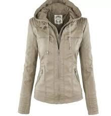 <b>Womens</b> Removable Lapel <b>Long Sleeved Zipper</b> Jacket: Buy ...