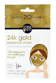 Miss Spa 24K Gold Radiance Facial Sheet Mask ... - Amazon.com